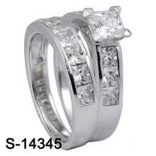 925 Sterling Silver Wedding Ring Fashion Jewelry (S-14345. JPG, S-14345Y. JPG)